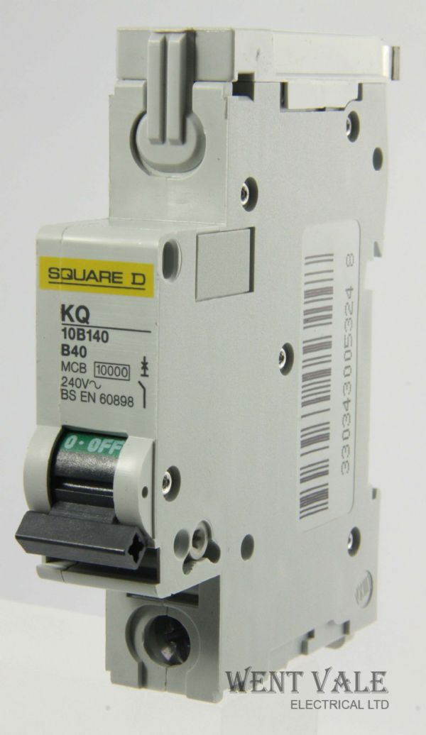 Square D Loadcentre - KQ10B140 - 40a Type B Single Pole MCB Un-used